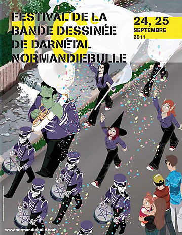 affiche normandie bulle