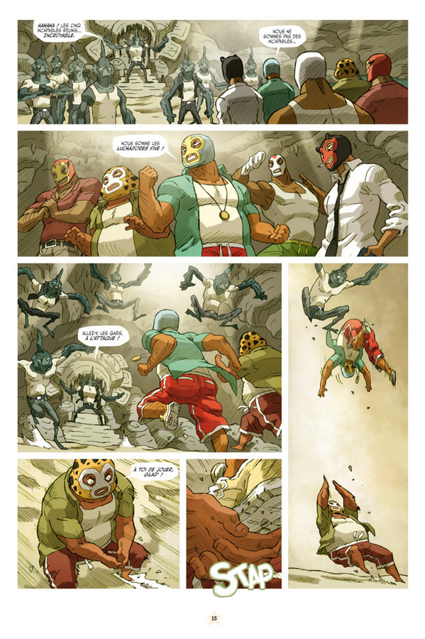 Extrait 1 : Luchadores five T3 : Les Créatures du lac de cuir noir