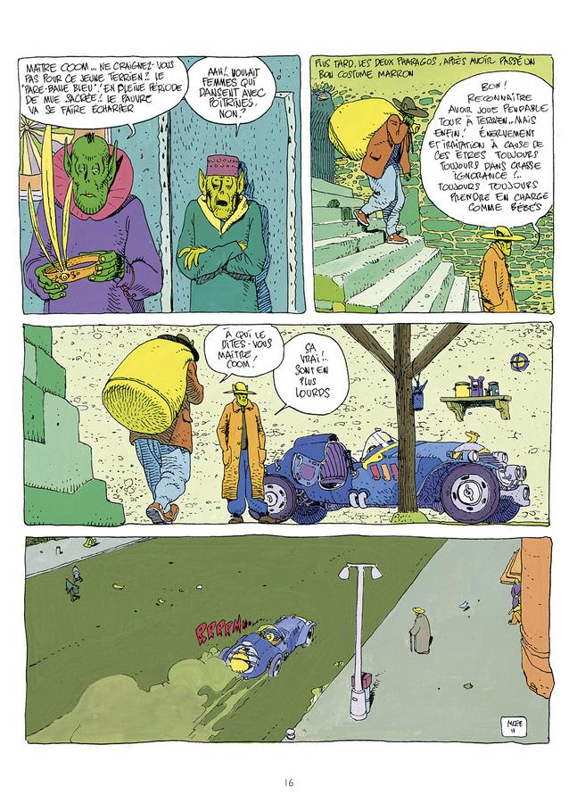 Extrait 0 : Mœbius Œuvres : Escale sur Pharagonescia USA