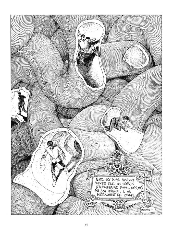 Extrait 0 : Mœbius Œuvres - 30*40 : Le Garage hermétique