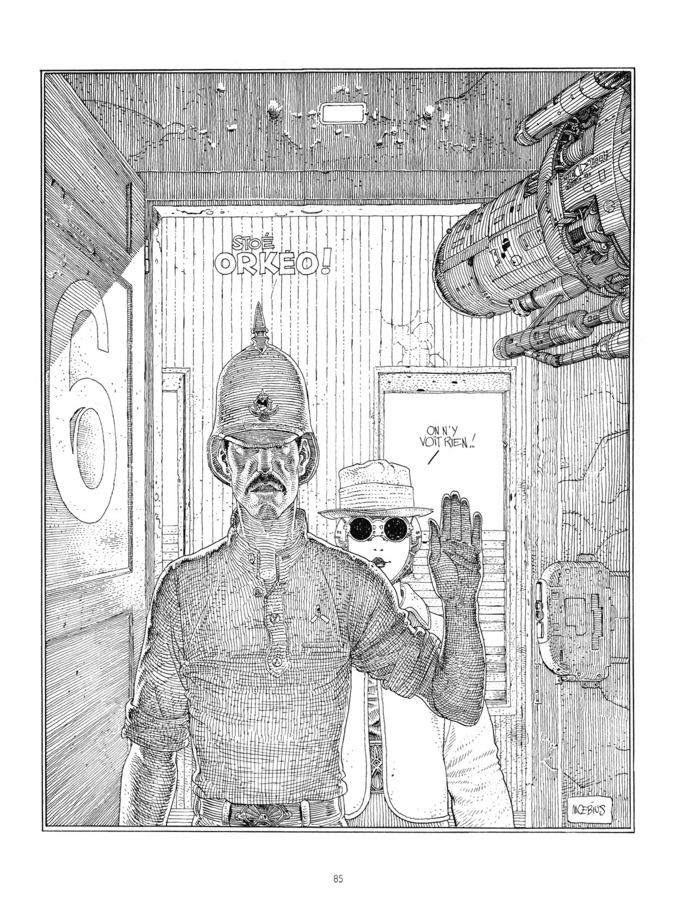 Extrait 1 : Mœbius Œuvres - 30*40 : Le Garage hermétique