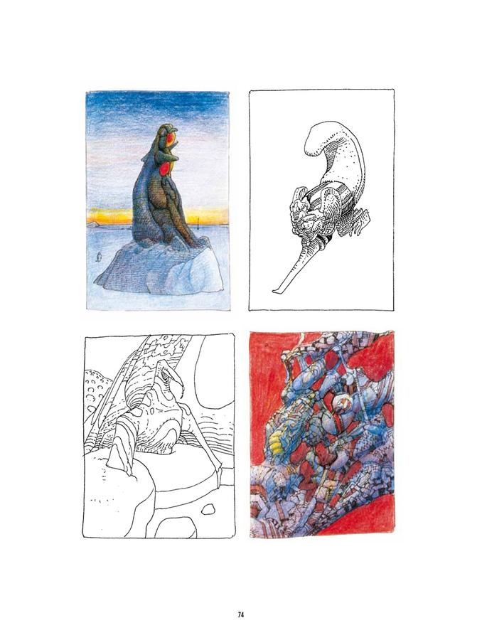 Extrait 3 : Mœbius Œuvres - Numérique : Chaos - Recueil d'illustrations