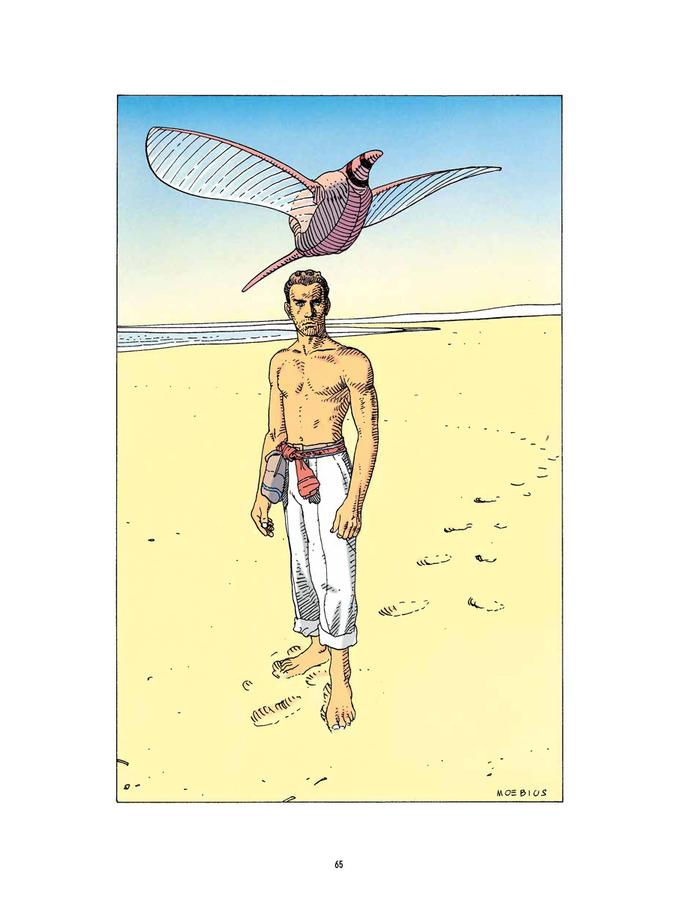 Extrait 1 : Mœbius Œuvres - Numérique : Chroniques métalliques - Recueil d'illustrations
