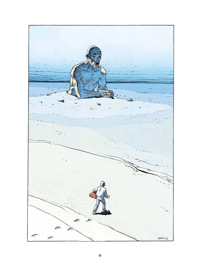 Extrait 0 : Mœbius Œuvres - Numérique : Chroniques métalliques - Recueil d'illustrations