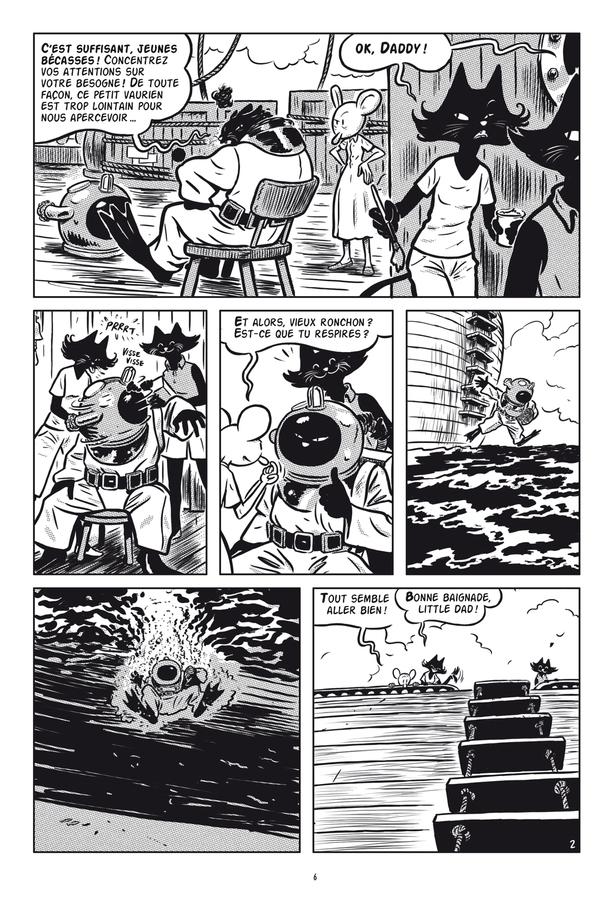 Extrait 1 : L'Extravagante Croisière de Lady Rozenbilt édition noir et blanc